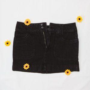 Forever 21 Black Denim Mini-Skirt